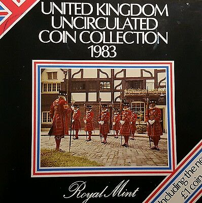 1983 United Kingdom Brilliant Uncirculated Coin Collection, Presentation Pack #2
