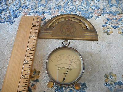 Anitque Advertising ST Louis Booth Cold Storage thermometer and Selsi Hygormeter