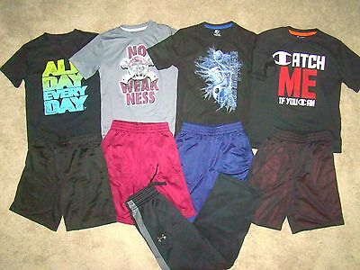 Mint Outfit Lot Starter Champion Under Armour Boys Sz.7/8 Athletic Shirts/shorts