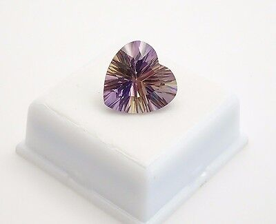 Ametrine - 12.80ct - 16x16mm - Heart Shape - Loose Gemstone