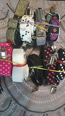 Girls Fashion Suspenders Lot- Gently Used Assorted Colors