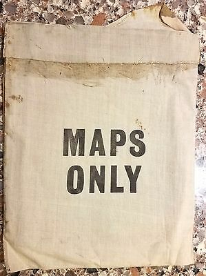 """Fantastic Rare Wwii Escape Evasion """"maps Only"""" Pouch"""