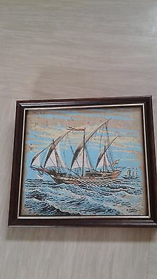 vintage painting? ship signed M Mynor Carillo