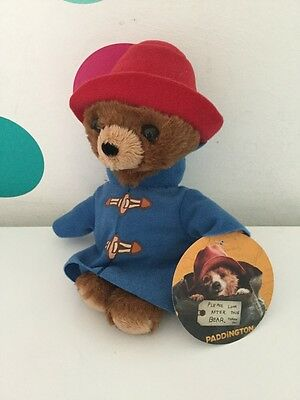Paddington bear 15cm Little Cuddly Plush Soft Toy Film Merch Rainbow Designs