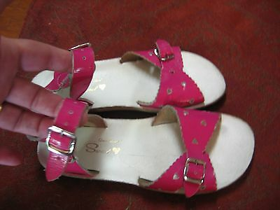 Sun San Sweet Hot Pink Patent Leather Sandals Girls Sz 13