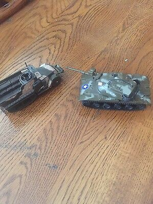 Lot Of 2-  One Corgi M3 Half Track- One Zylmex M60 Tank