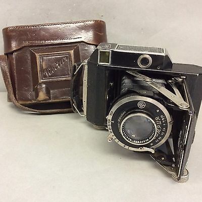 German Welter 35MM Camera in Leather Case