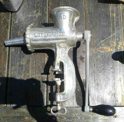 Enterprise No.10 Meat Grinder Clean Ready To Use #4 sausage stuffer