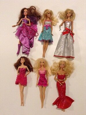 Barbie Doll Lot of 6 Dolls with Clothes as Shown - Lot JB2