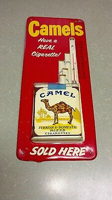 Vintage Camels Cigarettes Sold Here Advertising Thermometer Robertson