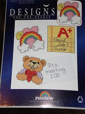 DESIGNS FOR THE NEEDLE Counted Cross Stitch Kit - RAINBOW MAGNETS Set of 3