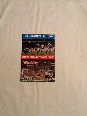 FA Charity Shield 1978 Ipswich Town v Nottingham Forest