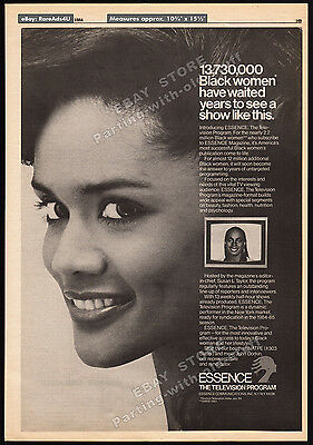 ESSENCE: The Television Program__Orig. 1984 Trade Print AD promo__SUSAN L TAYLOR
