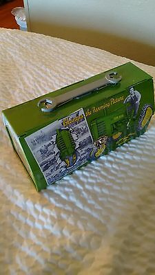 john deere tin lunchbox style container