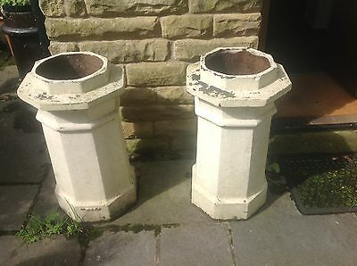 2 Old Chimney Pots,Garden Planters