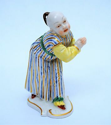 Antique Nymphenburg German Porcelain Figurine of Chinese Boy After F A Bustelli
