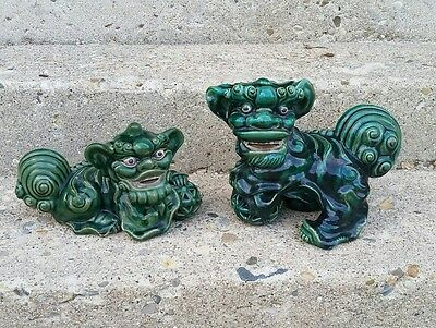 Antique Chinese Foo Dog Guardian Lion Dragon Statues