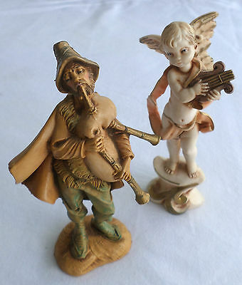 Pair of 2 Depose Figurines from Italy, Angel & Musician