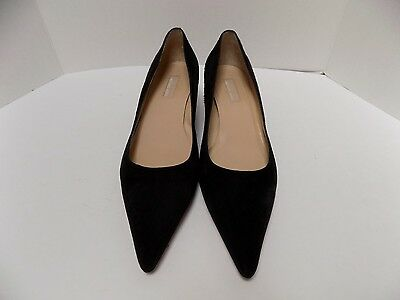 Michael Kors Kitten Heel Pumps Black Leather (Suede) Size 9.5M