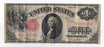 1917 $1 One Dollar United States Legal Tender Note