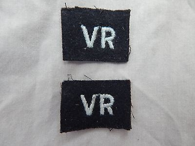 WW2 RAF Enlisted Voluteer Reserve Patches NICE!