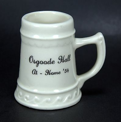 "Osgoode Hall York University 1954 Mini Beer Stein 2 3/4"" Tall by Balfour Ceramic"