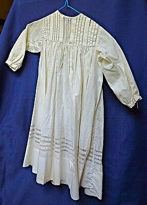 Vintage White Cotton Baby Christening Gown 1920 1930