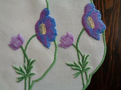 FABULOUS set of 4 DOILIES / DOILYS - HEAVILY EMBROIDERED SOCIETY SILK - VINTAGE