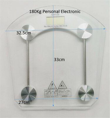 180Kg Personal Electronic Glass  Body Bathroom Gym Weight Scales Glass