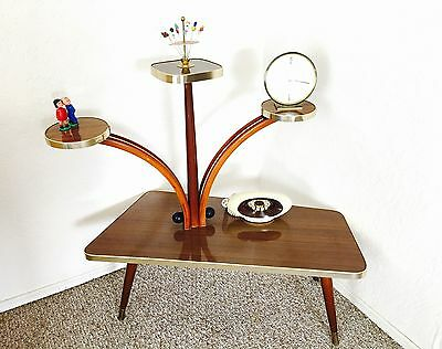 Atomic Era Plant Stand Display Table Mid Century Side Table End Table German