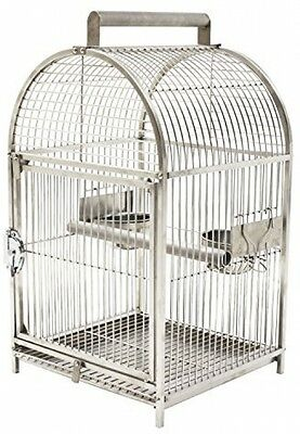 Pawhut 25' Dome Top Stainless Steel Travel Bird Cage