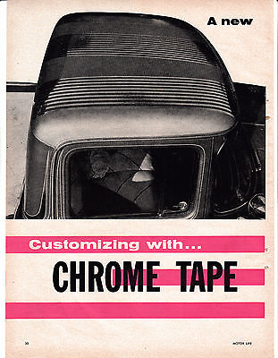 1958 George Barris Low Cost Restyling Trick-Chrome Tape-Original MagazineArticle