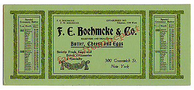1911 Fred Boehmcke Ink Blotter, Greenwich St., New York, NY