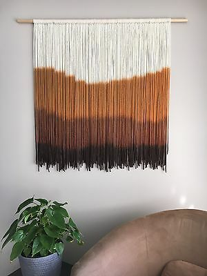 Rust Hues, Dip Dye Tapestry, Wall Hanging, Home Decor, Art