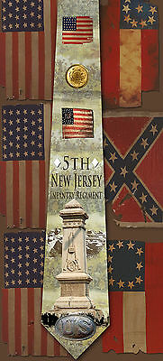 New 5th New Jersey Infantry Regiment poly satin neck tie
