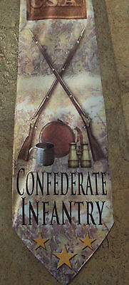New Confederate Infantry poly satin neck tie