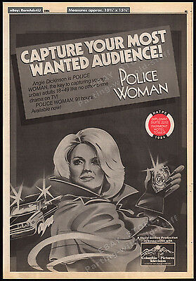 POLICE WOMAN__Original 1984 Trade Print AD / poster__ANGIE DICKINSON__TV promo