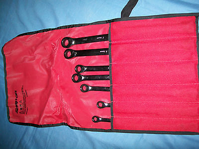Snap-on XDHRM607 7pc 12pt HI-Performace Combination Ratcheting Box Wrench Set