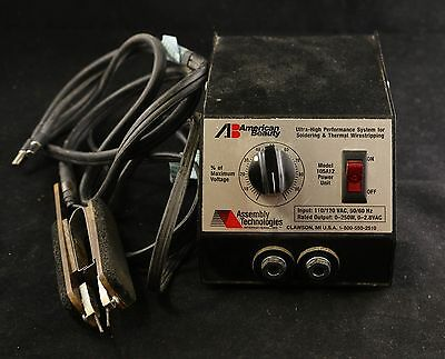 American Beauty 105A12 0 to 250 Watt Resistance Soldering Power Unit w tweezers
