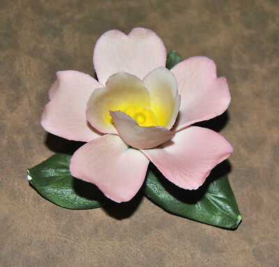 Porcelain flower bloom - Napoleon Capodimonte Hand Painted made in Italy