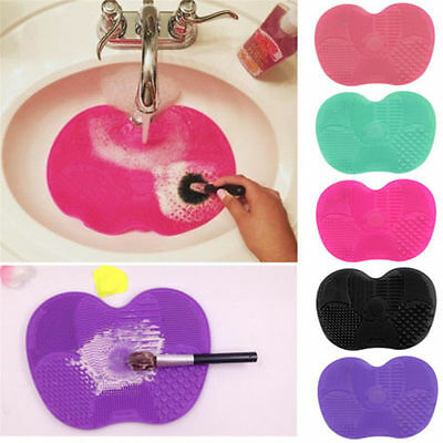 Silicone Makeup Brush Cleaners Pad Mat Washing Cleaning Scrubber Board Hand Tool