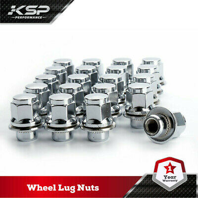 KSP 20PC Lug Nuts Mag Seat M12x1.5 Chrome Wheel Nut Toyota Lexus Scion