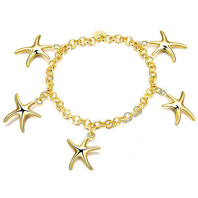 Classic 925 silver Gold plated Jewelry Charm chain Women fashion Bracelet