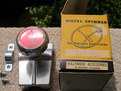 Vintage Hollywood Steering Wheel Spinner Knob In Rare Original Box