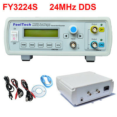Hot 24MHz USB Dual-Channel DDS Function Signal Generator Kit Arbitrary Waveform