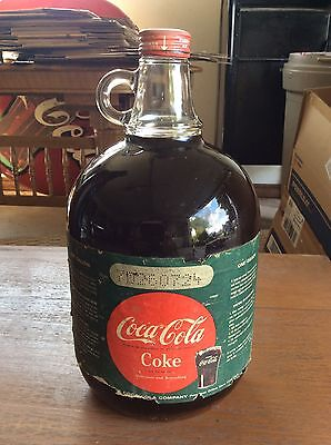 Vintage COCA~COLA Coke Syrup 1 Gallon Jug Bottle Full Soda Fountain