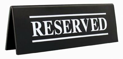 """New Star Foodservice 27037 Acrylic Table Tent Sign """"RESERVED"""", 6-Inch by"""