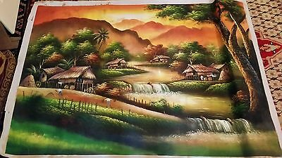 Beautiful Painting on canvas 140 x 103 cm art artwork landscape wall hanging