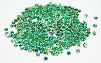 100 Pcs. Round 2.0 Mm. Machine Cut Lab Created Nanocrystal Emerald