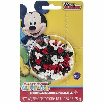 Wilton Mickey Mouse Clubhouse Sprinkles Edible Cupcake Cookies Icing Decorations